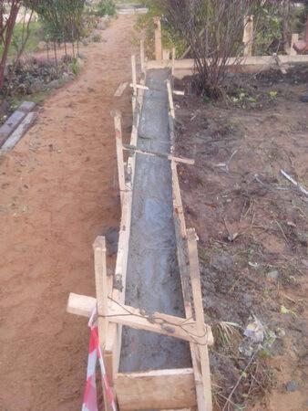 Подпорная стена из бетона опалубка